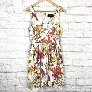 Jack XS Fit & Flare Dress Floral Sleeveless